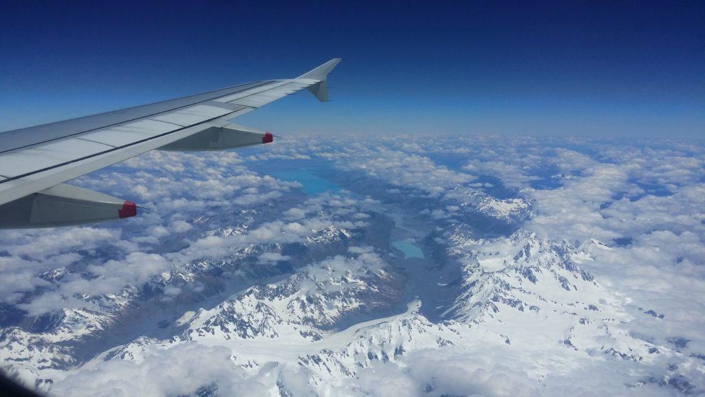 Les Alpes du Sud,  le mont Cook, le lac Pukaki et un glacier...