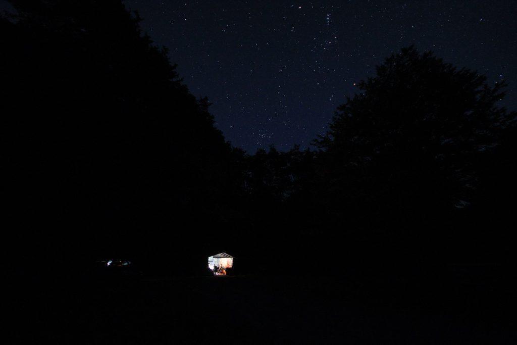 Camping sous le ciel étoilé