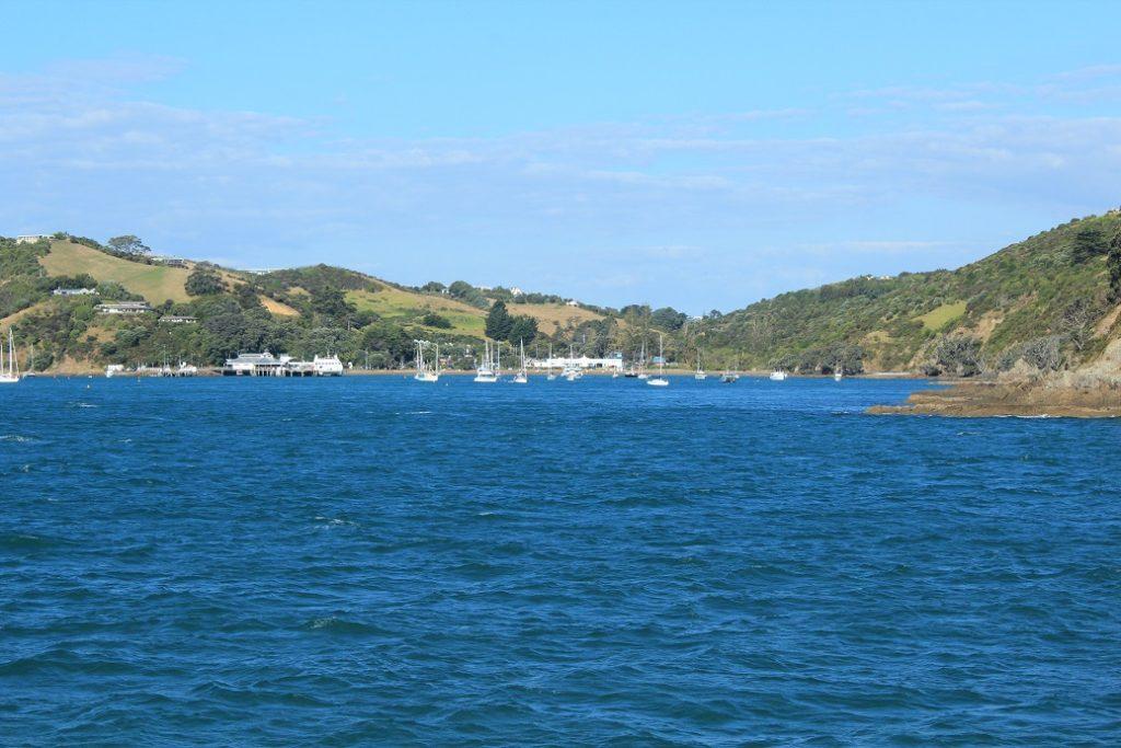 Arrivée sur l'île de Waiheke