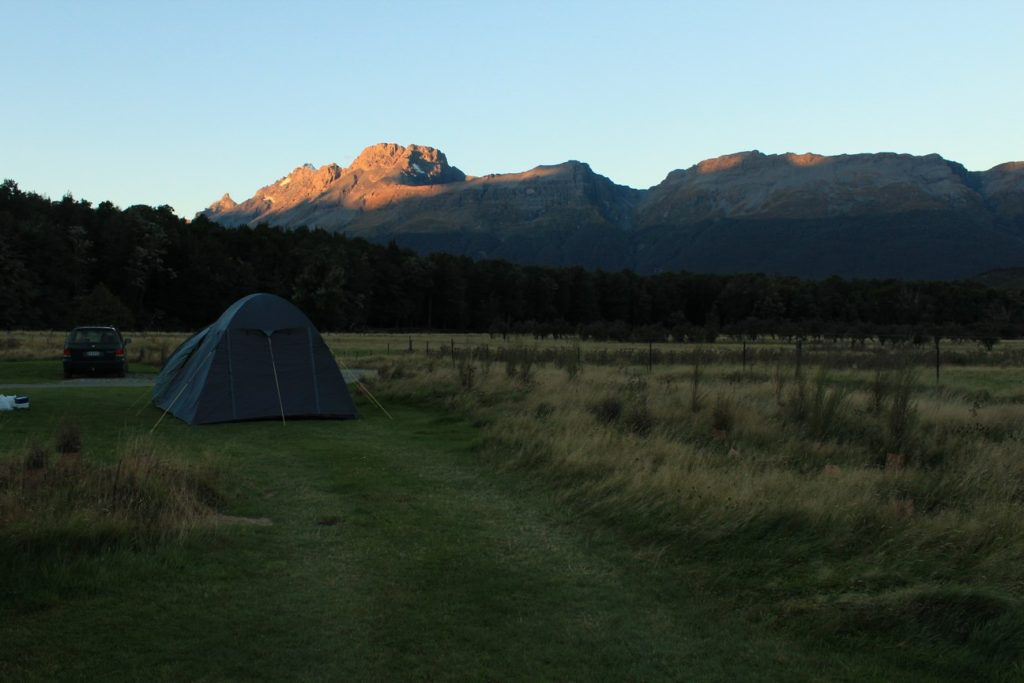 Notre camping au coucher du soleil