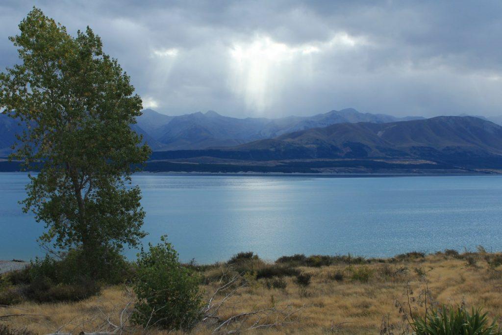 Lac Pukaki, sur la route