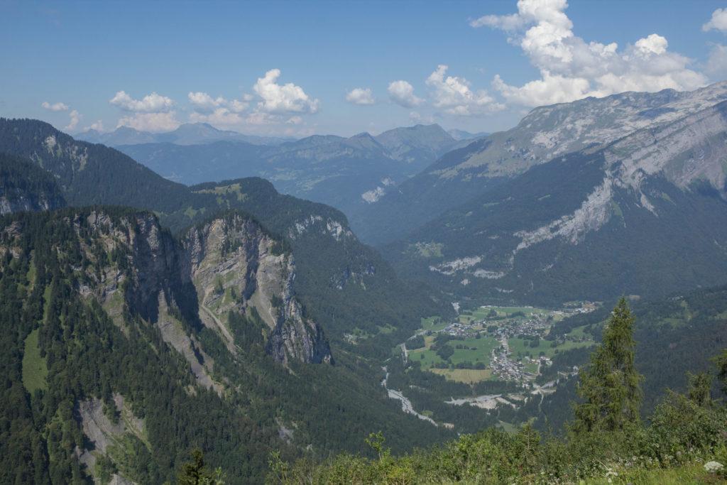 Vue sur la vallée de Sixt-Fer-à-Cheval